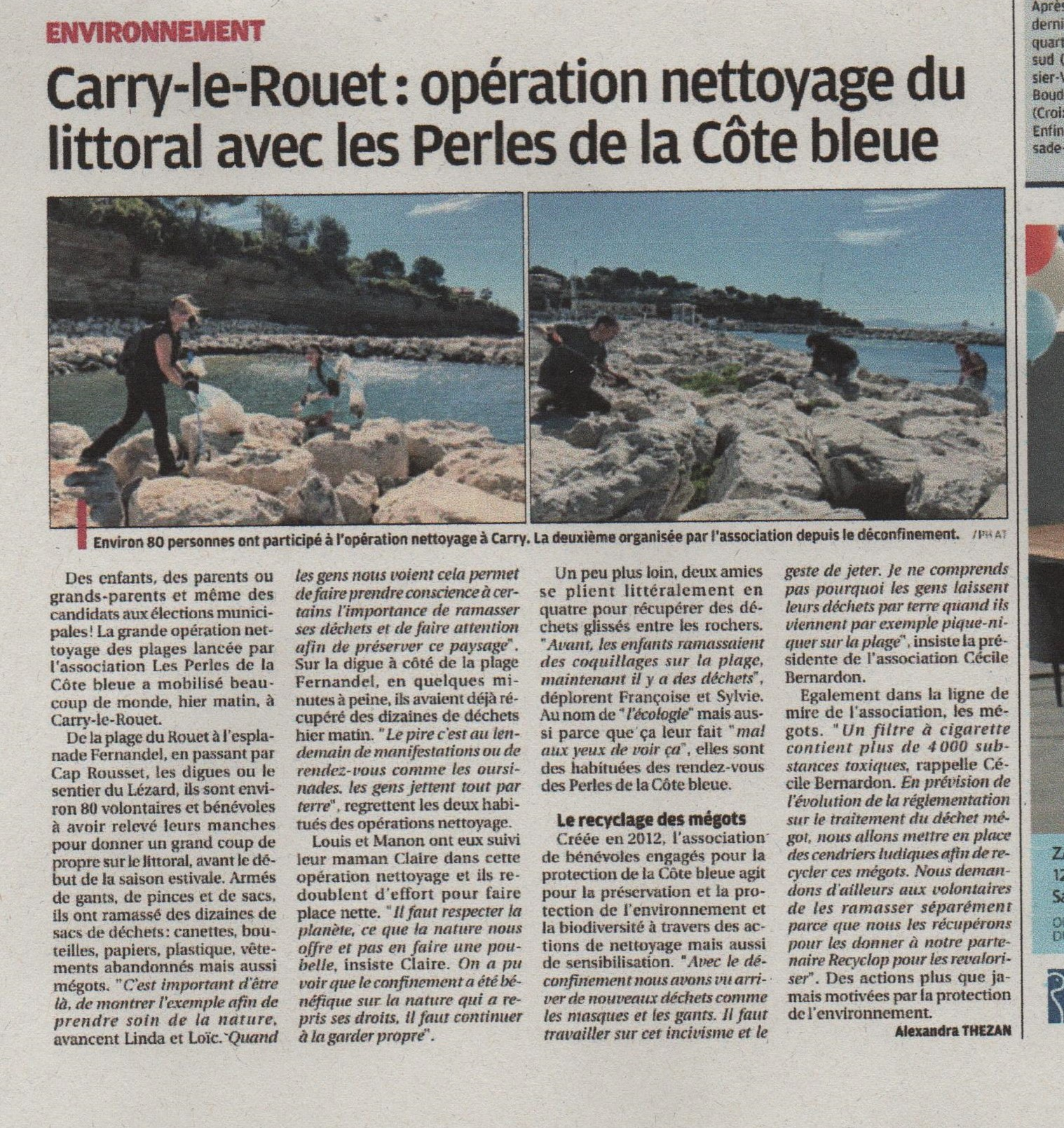 Article la provence 5 juin 2020