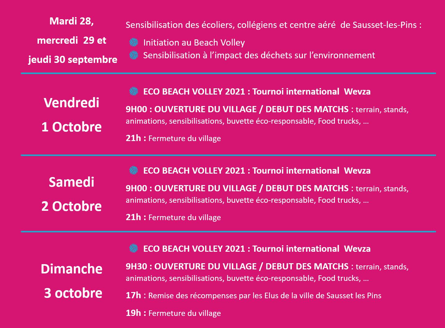 Agenda Eco Beach Volley